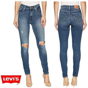Levi's Strauss 721 High Rise Skinny Denim Jeans